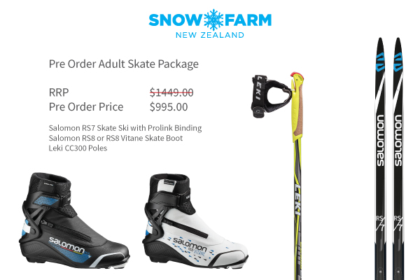 Pre Order Cross Country Ski Packages
