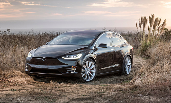 Tesla Model X Rental by hours