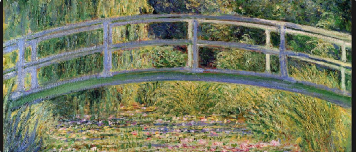 Bubbles & Brushes Paints Japanese Bridge (Monet) at The Lake House Denmark