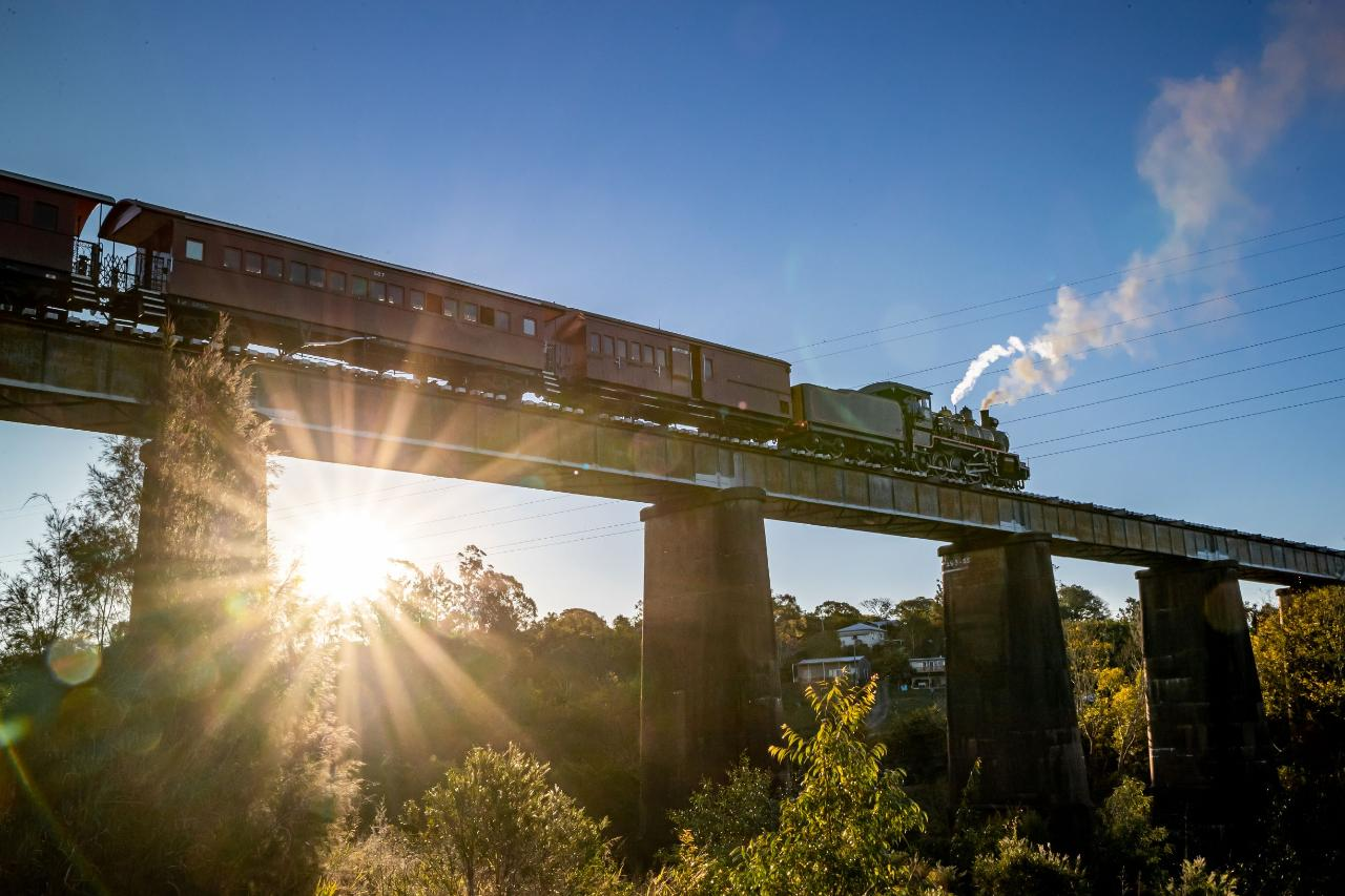 The Summer Sunset Express - Departs Saturdays Dec 5 - Jan 30 - Gympie to Amamoor (Return)