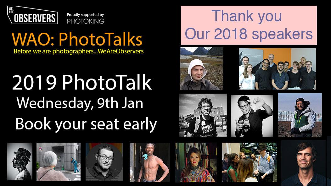 WAO PhotoTalks (Free Event)