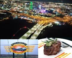 Dallas Skyline VIP Tour for two -  with Dinner - Group flight - (approx 15 - 18 minutes)