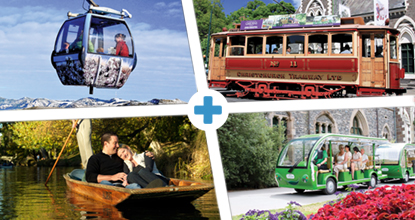 Christchurch Pass: Tram, Punting, Gardens Tour & Gondola: ~ Mar 20 & Oct 20 ~