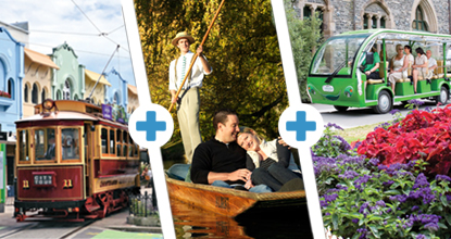 Tram, Gardens Tour & Punt Triple Pass: ~ Mar 20 & Oct 20 ~