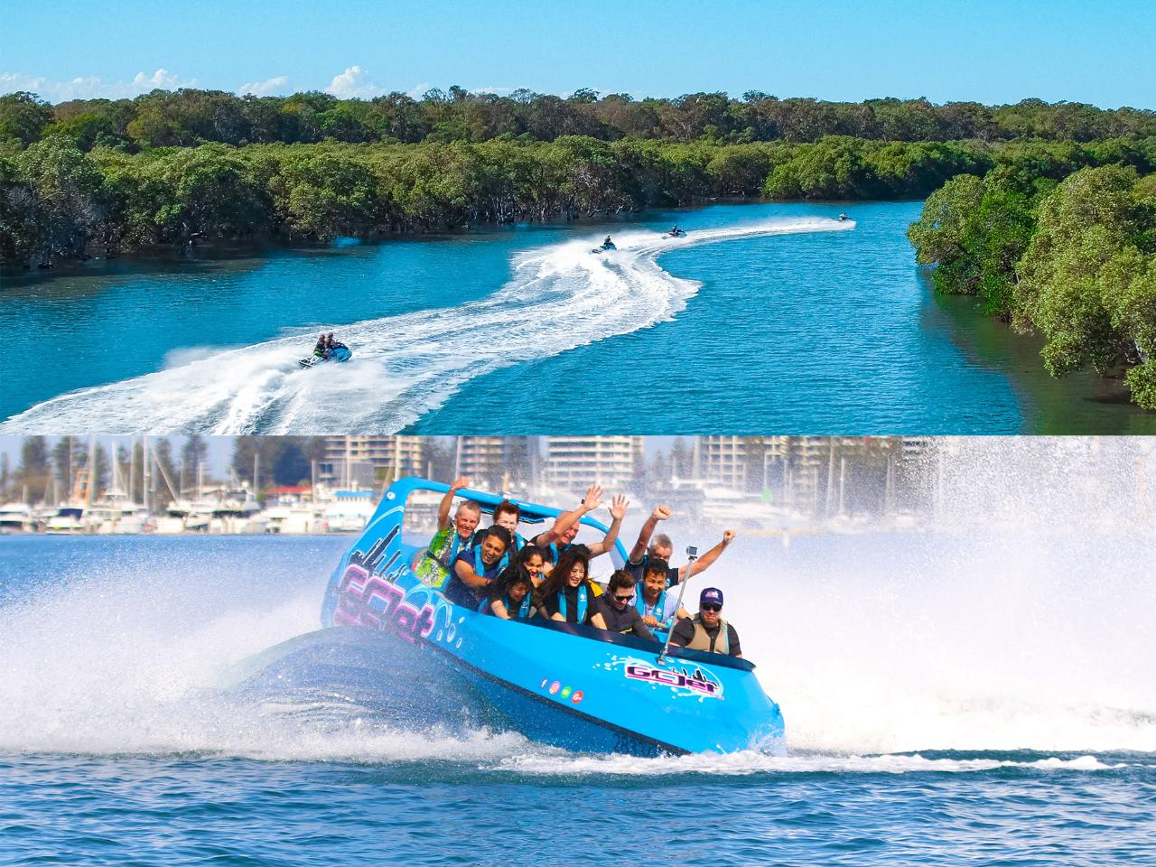 Jet boat & Jet Ski 1.5 hour - 2 Adults