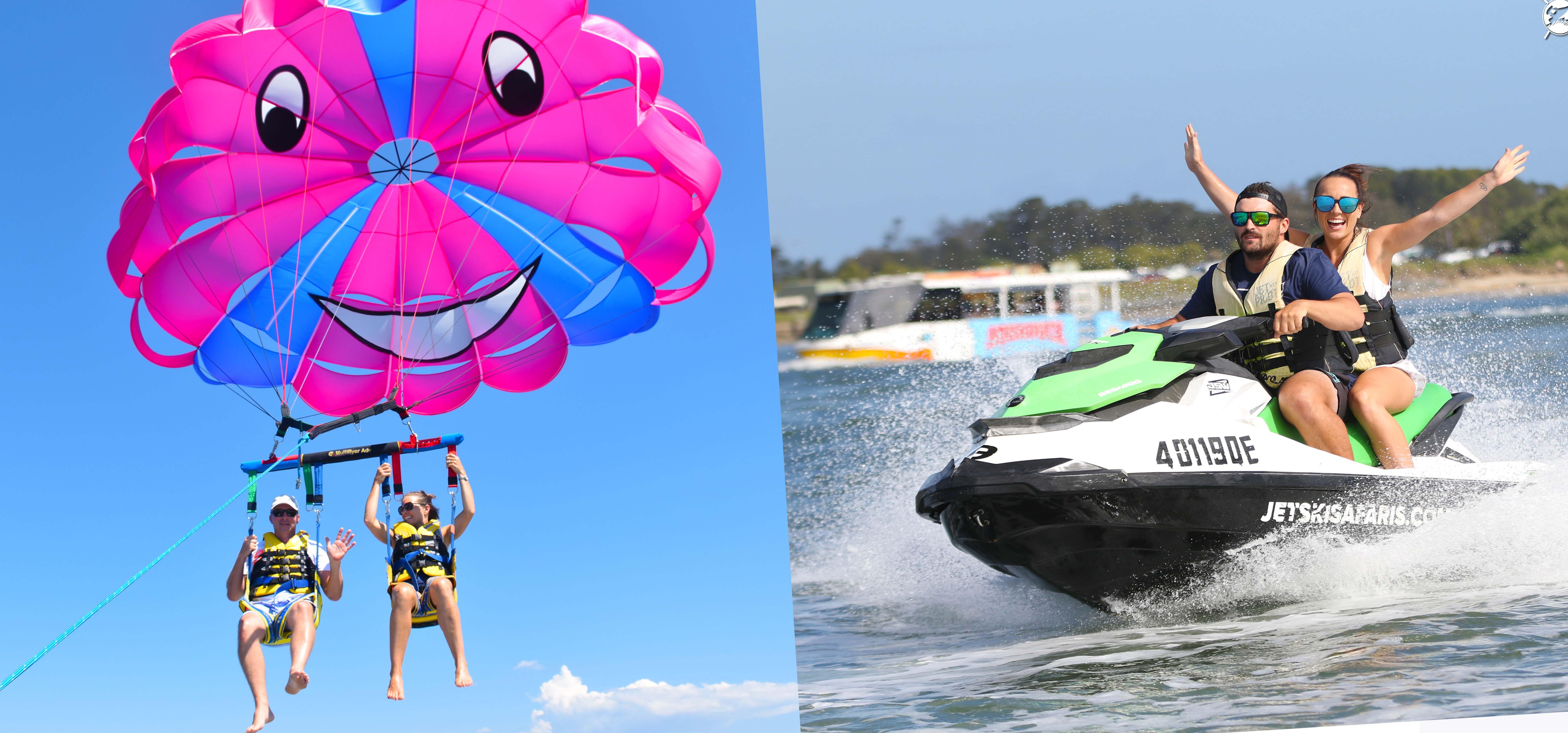 Parasailing plus Jet Ski Safari 30 Minutes -1 adult