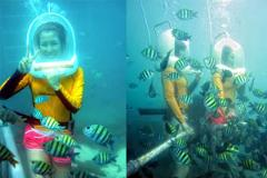 Underwater Life at Ocean Walker with Relaxation Time at Halo Bali Spa