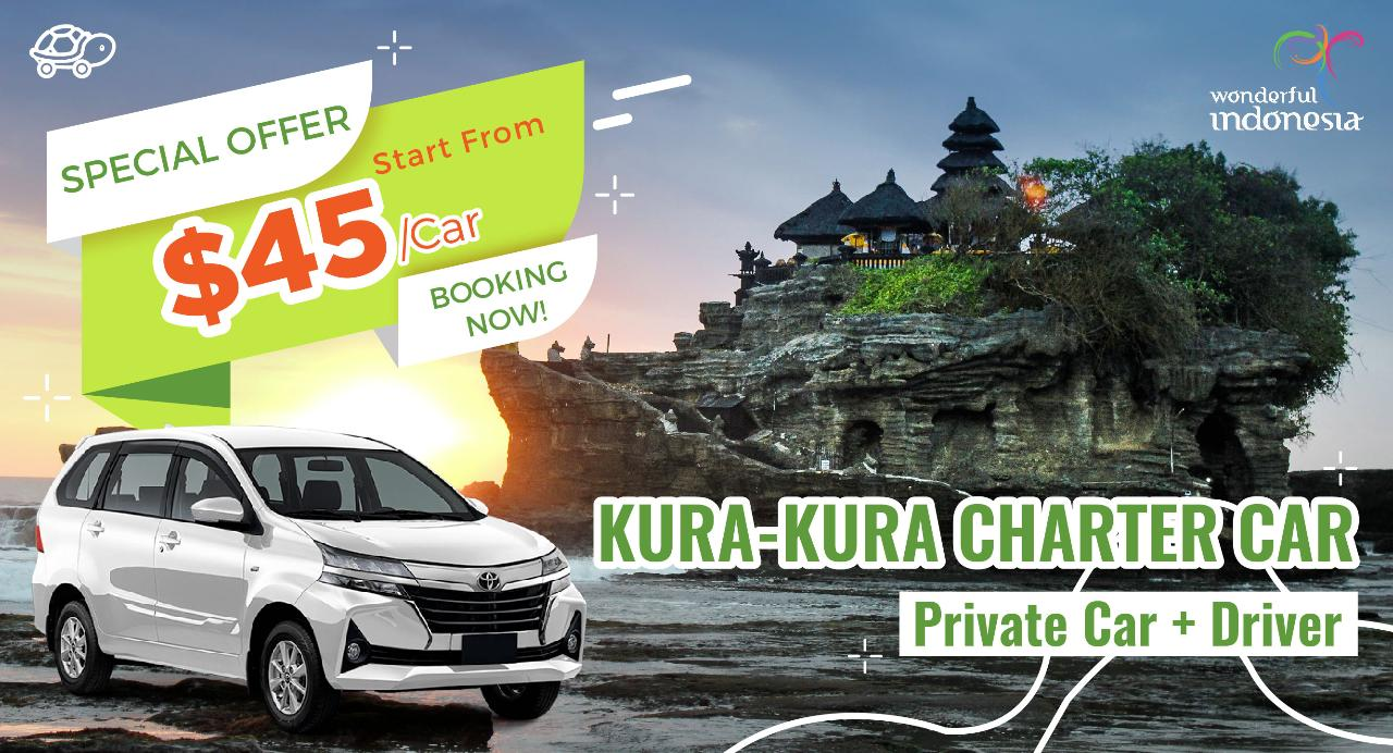 A : 12 Hours Charter Car from South Area To Ubud,Uluwatu,Tanah Lot