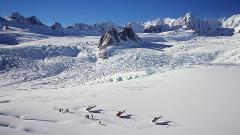 Franz Josef or Fox Glacier with Snow Landing