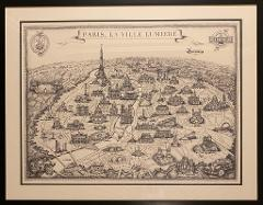 LIMITED EDITION MAP OF PARIS printed on a high quality paper 16.5 x 23. 4 inches (420 x 594 mm) FREE SHIPPING