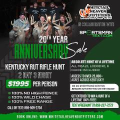 SUPER SPECIAL 2 Day 3 Night Kentucky Rut Rifle Hunt