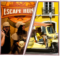 Escape Hunt + Passeio de Tuk Tuk por 69€