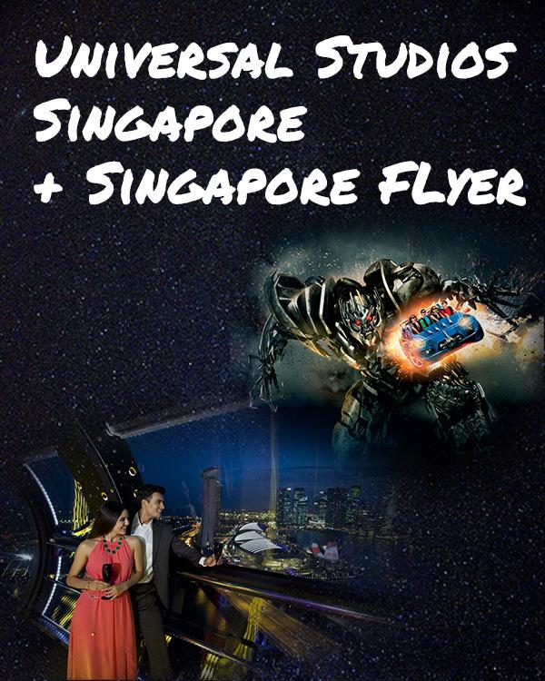 Universal Studio Singapore + Singpore Flyer Bundle Tickets