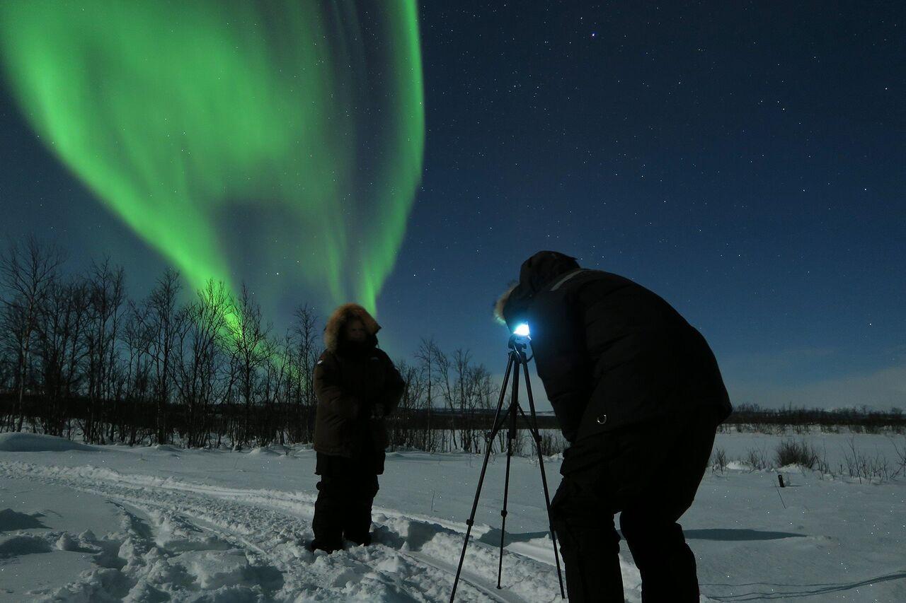 Northern Lights BBQ and photo evening at Máttaráhkká Lodge (SEP-MARCH)