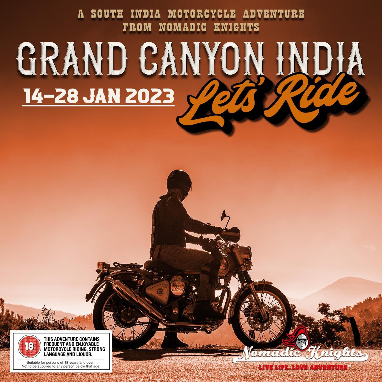 GRAND CANYON INDIA : 14 - 28 JAN 2023