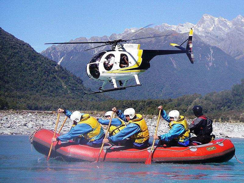 Guided Heli Rafting Trip