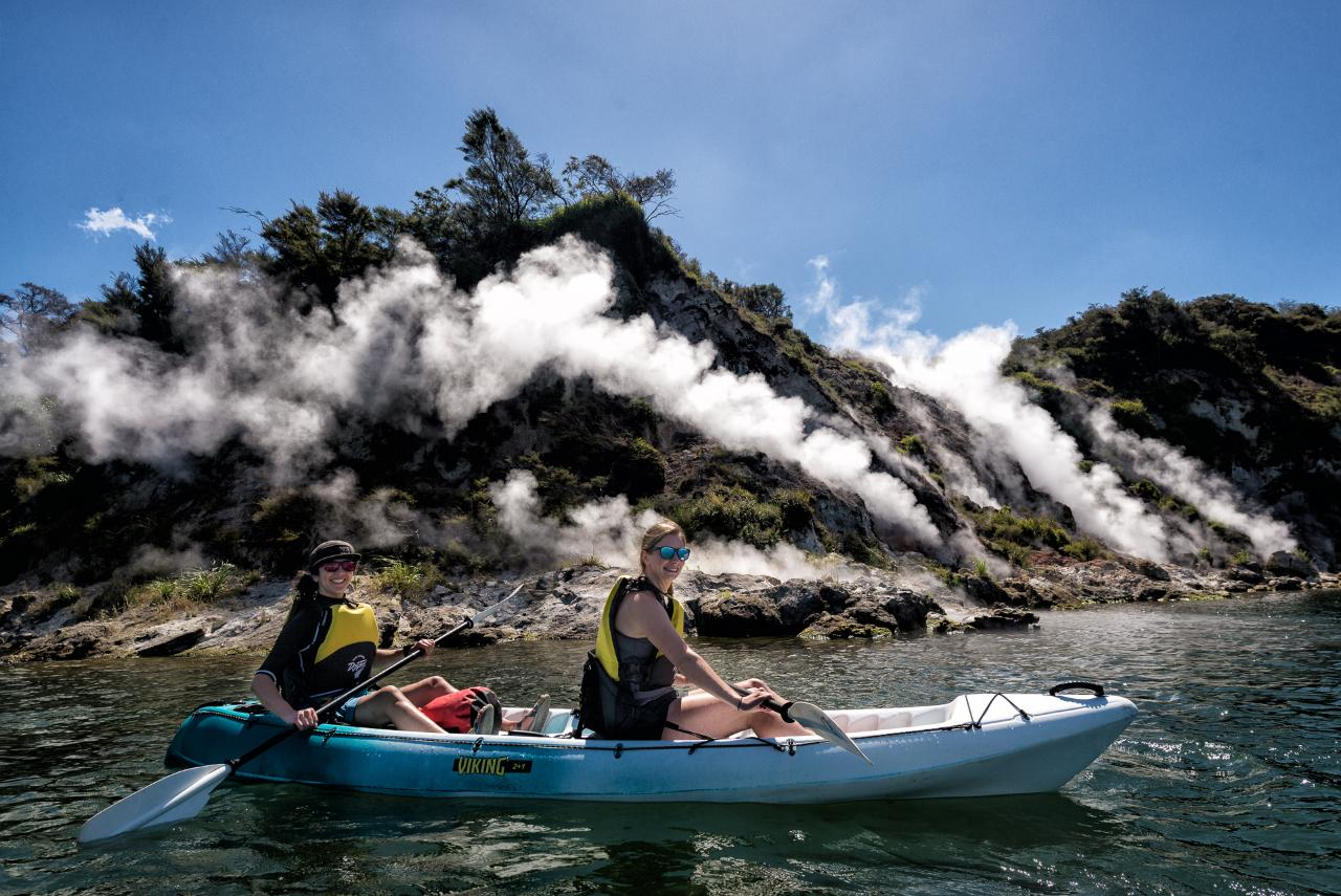 Steaming Cliffs Kayak Tour on Lake Rotomahana
