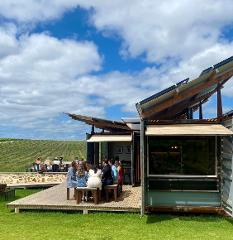 Guided Wine Flight outside on the Tasting Pod Deck