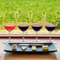 Wine and Cheese Flight