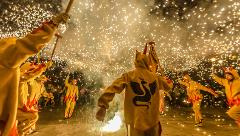Traditional correfoc (Fire running) tour from Barcelona