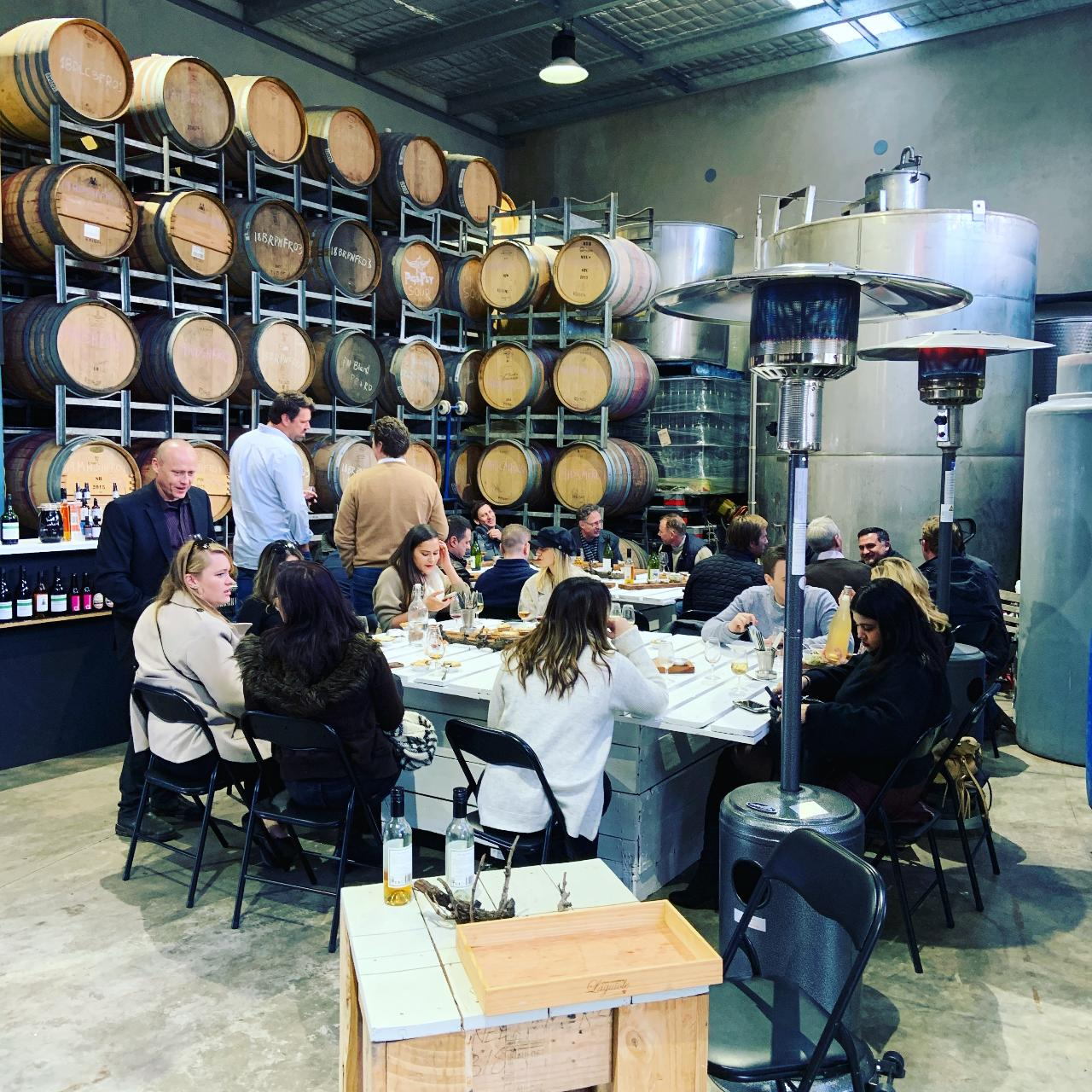 Seated guided wine, beer and cider tasting