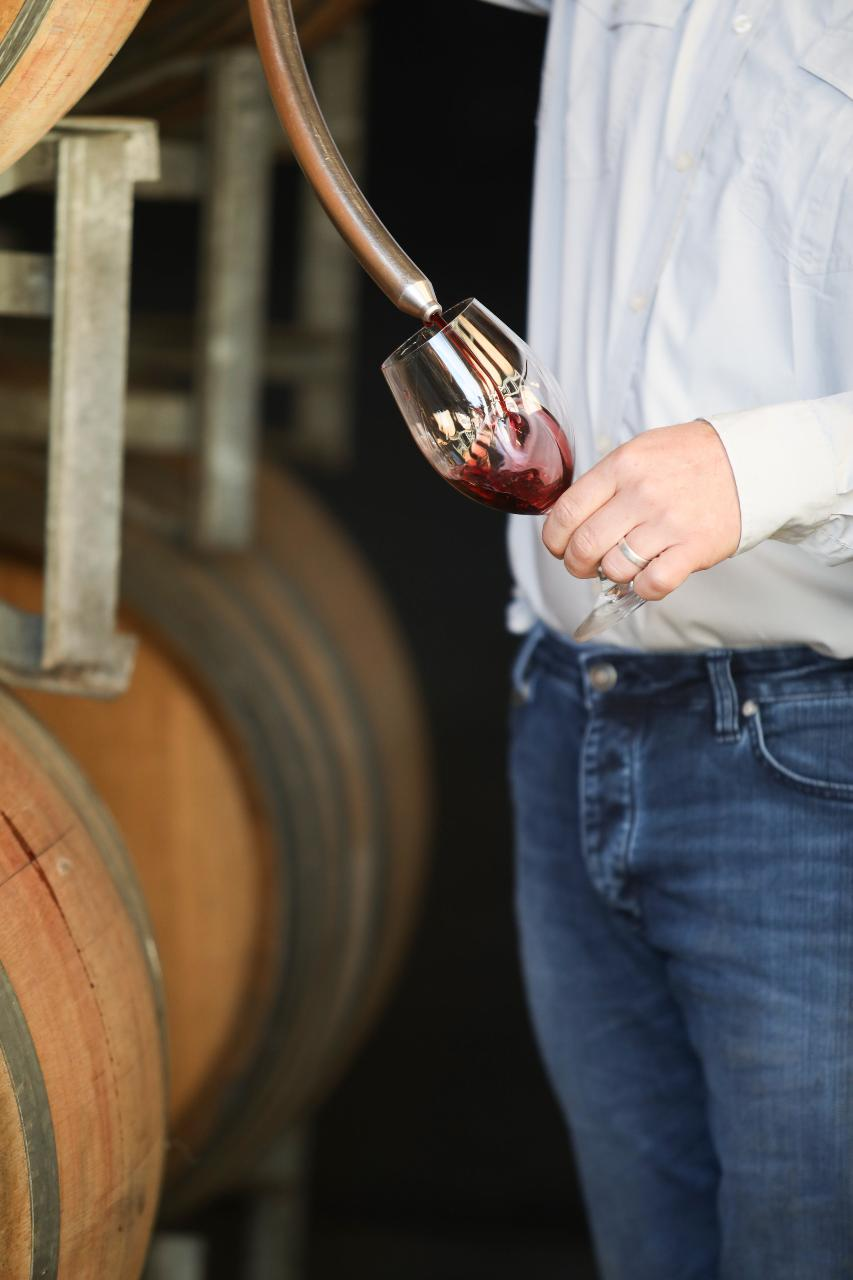 Barrel tasting with the winemaker