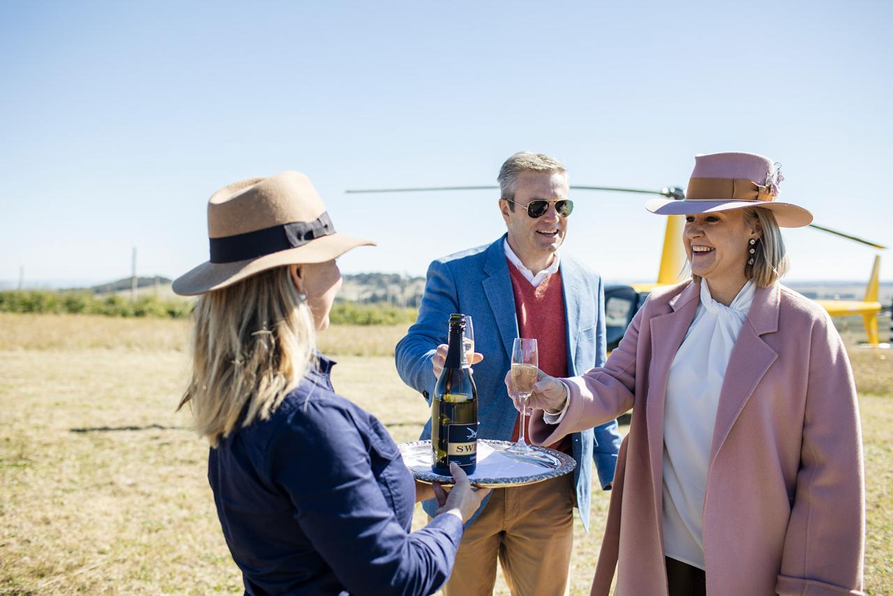 Helicopter Winery Tour (incl Three Course Lunch)