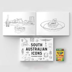South Australian Icons Colouring In Book