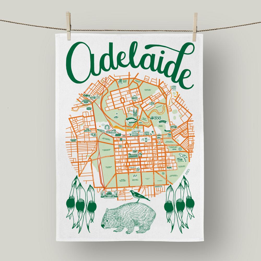 Adelaide Linen Tea Towel