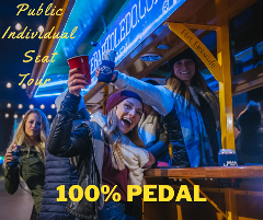 Public Individual Seat Tour - 100% Pedal (1 to 16 riders - pay per rider)