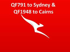 Qantas QF791 to Sydney & QF1948 to Cairns