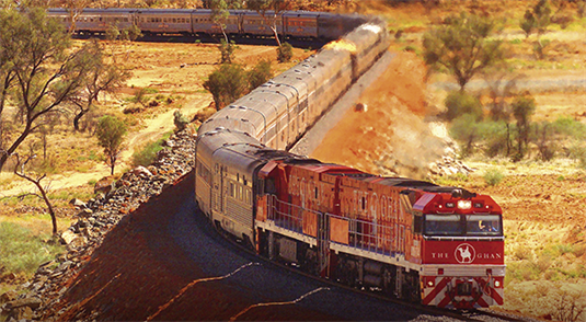 Alice Springs Accommodation to Ghan (Mondays) Train Departing 18:00pm
