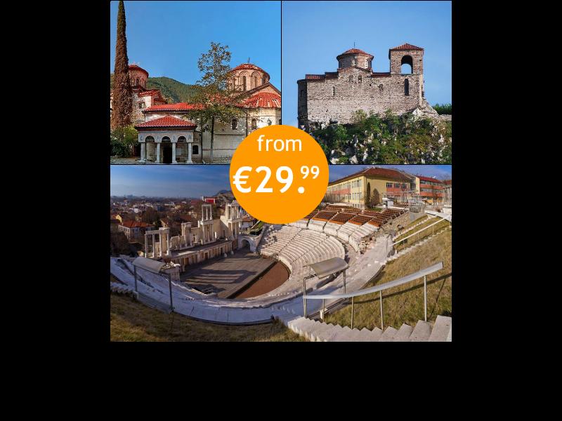 Plovdiv + Bachkovo monastery + Asen's fortress
