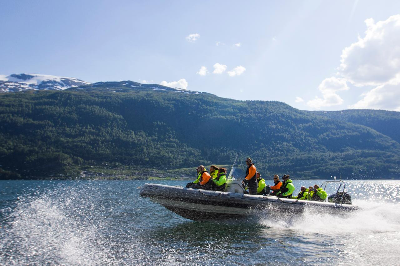 RIB cruising on the Nordfjord