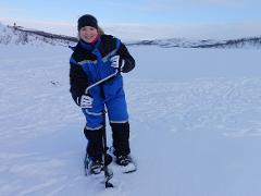 Snowshoe hike and ice fishing tour with Gargia Lodge