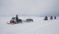 Full day Snowmobile Safari on the arctic tundra