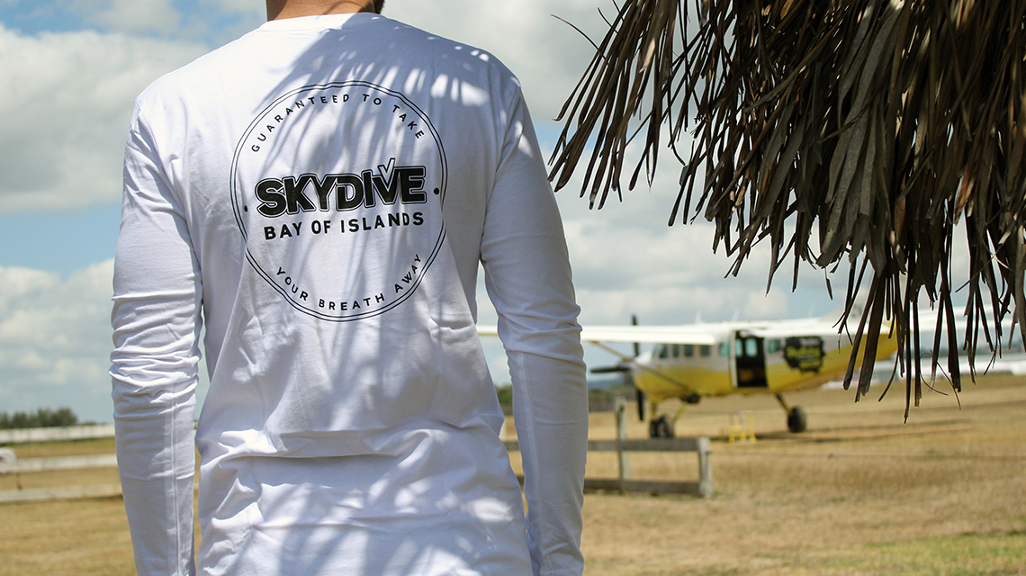 Skydive Bay of Islands Long Sleeve - White