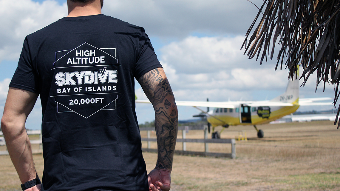 Skydive Bay of Islands High Altitude T-shirt