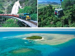 二大世界遺産 キュランダ列車+スカイレール+グリーン島