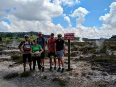 Craters MTB park guided Bike tour with full sus or E-bike hire.