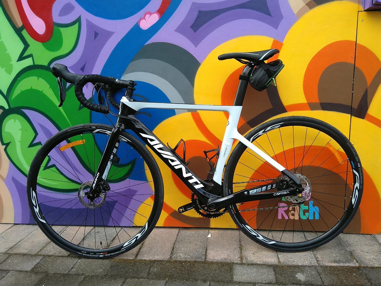 Avanti Corsa DR (Drag reducing) Road Bike Hire (November Ironman hire) 52 and 53.5 available