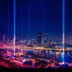 Laser Light Show Night Climb