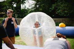 Body Zorbing at Ripley Castle
