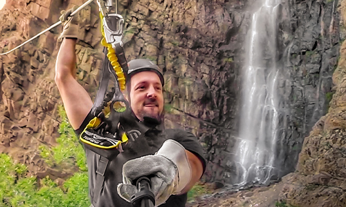 Waterfall Zipline - Individual 4-Zip Tour
