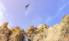 Waterfall Zipline - Non-Profit Group 4-Zip Tour