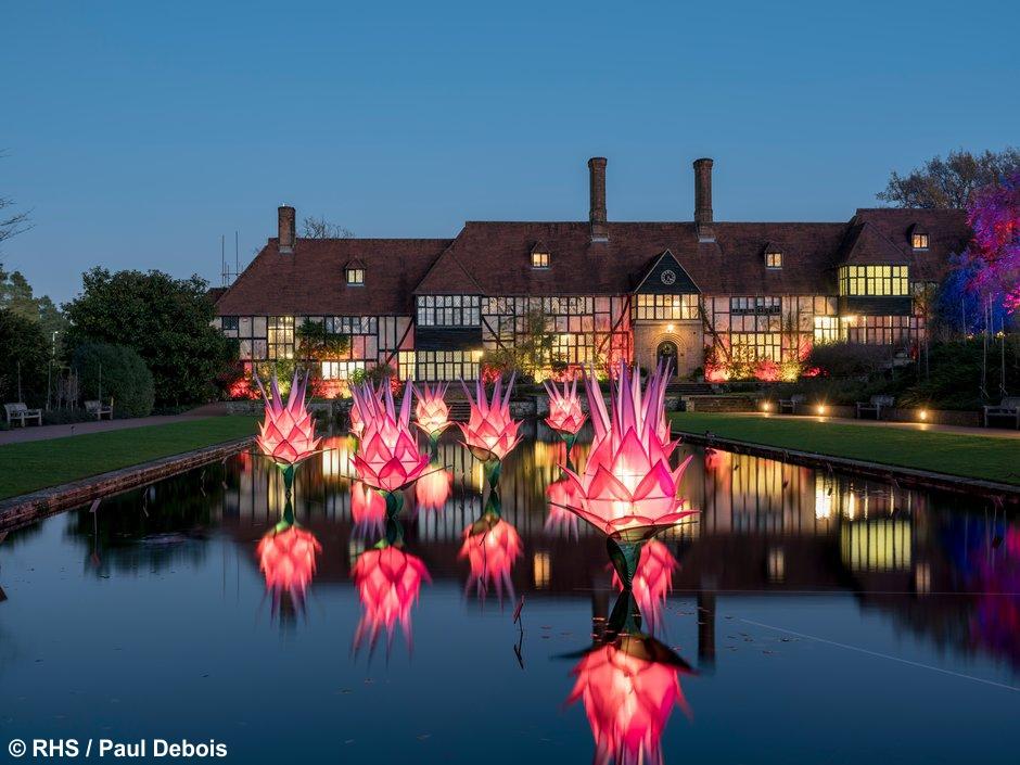 RHS Wisley Gardens Glow Illuminations - Wed 11th Dec 2019