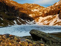 Midnight sun hike to Trollsjön (Rissajaure)