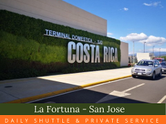 San Jose  La Fortuna  Private Transfer