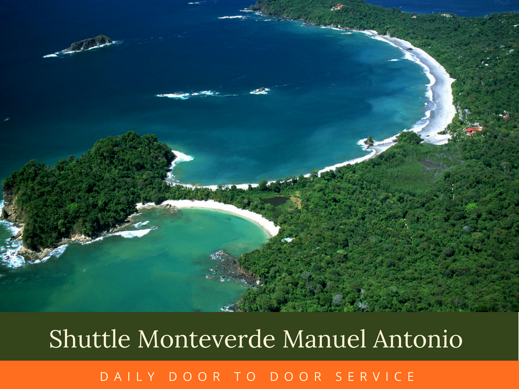 Shuttle from Manuel Antonio to Monteverde  2:00 pm