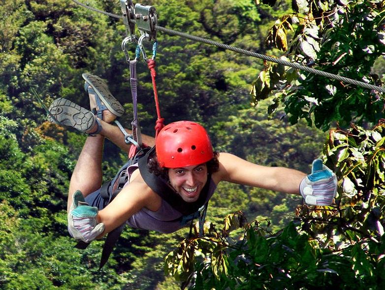 100% Aventura Canopy Tour,  includes: Super Man &  Mega Tarzan Swing (Total Adrenaline)